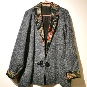 Vintage Blackford design XXL jacket floral accent